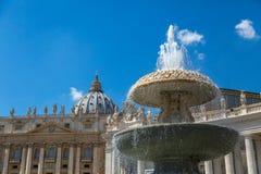 tła bazyliki bernini miasta fontanny Peter Rome s kwadratowy st Vatican Zdjęcia Royalty Free