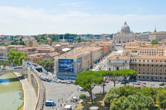 tła bazyliki bernini miasta fontanny Peter Rome s kwadratowy st Vatican Obrazy Royalty Free