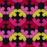 tła bezszwowy dekoracyjny kwiecisty Skrobaniny tekstura Retro motyw Fotografia Stock