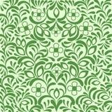 tła bezszwowy kwiecisty zielony ozdobny Zdjęcie Stock