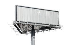 tła billboardu odosobniony biel Obraz Stock
