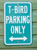 T-Bird Parking Sign Royalty Free Stock Image