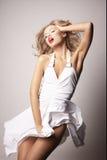 tła blond dziewczyny grey seksowny Fotografia Royalty Free