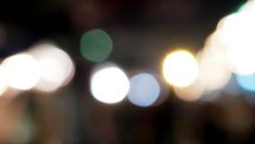 Tła Bokeh plamy nocy czasy Zdjęcie Stock