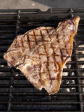 T-Bone on Grill Royalty Free Stock Photos