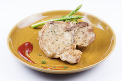 T-bone pork steak Stock Images