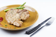 T-bone pork steak Stock Photos