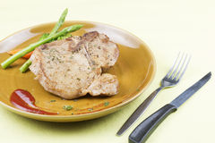 T-bone pork steak Stock Photo
