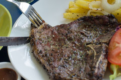 T-Bone-Steak Stockbild