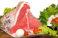 T-bone steak stock image