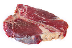 T-bone steak at an angle Stock Photos