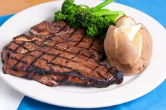 T-bone steak. A delicious t-bone steak grilled to perfection Stock Photo