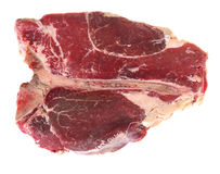 T-bone steak isolated from above Stock Images