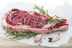 T-bone steak isolated over white Royalty Free Stock Image