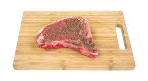 T Bone Steak  Wood Cutting Board Stock Images