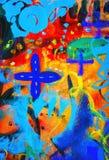 tła brezentowego grunge ilustracyjny tekstury wektor Obraz Stock
