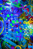 tła brezentowego grunge ilustracyjny tekstury wektor Zdjęcie Royalty Free