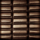 Tła brown rzemienny tapicerowanie Obrazy Stock