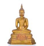 tła Buddha odosobniony statuy biel Zdjęcia Stock