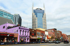 AT&T Building and Broadway, Nashville, Tennessee Stock Photography