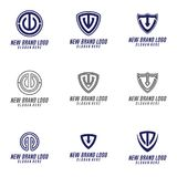 T & C Letter logo design  element , T & U Logo Vector, T, C, & U Logo Icon, Security Icon Logo. Bussines Stock Images