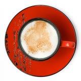 tła cappuccino biel Zdjęcie Royalty Free