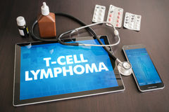 T-cell lymphoma (cancer type) diagnosis medical concept on table Stock Photography