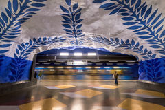 T-Centralen metro station in Stockholm, Sweden Royalty Free Stock Photo
