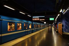 T-Centralen Station of the Subway in Stockholm Royalty Free Stock Photos