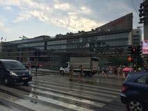 T-centralstation av i stadens centrum Stockholm Royaltyfria Bilder