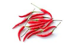 tła chili pieprzy czerwonego biel Zdjęcie Stock