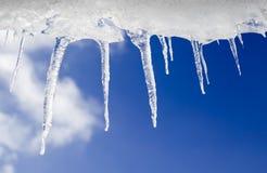 tła chmurny ramowy sopli niebo Zdjęcia Royalty Free