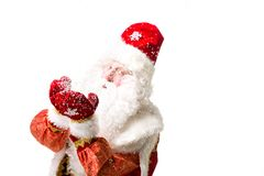 tła Claus odosobniony Santa biel Fotografia Royalty Free