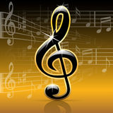 tła clef musical Zdjęcie Stock