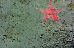 T34. Close up of russian red star painted on t34 tank turret Royalty Free Stock Images