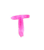 T - Color letters isolated over the white background. Stock Image