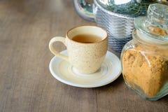 Tè con zucchero Immagine Stock