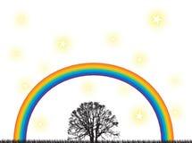 tęcza drzewo Obrazy Stock