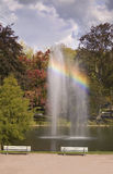 tęcza fontann obraz stock