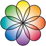 Tęcza kwiat Fotografia Stock