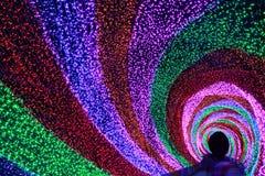 Tęcza Lekki tunel Zdjęcie Royalty Free
