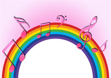 tęcza muzycznej Obraz Royalty Free