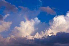Tęcza na niebie Fotografia Royalty Free