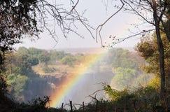 Tęcza nad Wiktoria spadkami, Zimbabwe Obraz Stock