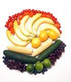 tęcza owocowy warzyw fotografia stock