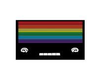 Tęcza rocznika barwiony radio Zdjęcia Stock