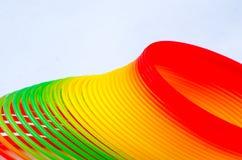 Tęcza Slinky lub wiosna zdjęcia royalty free