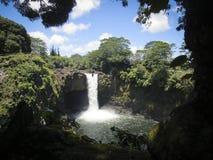 Tęcza Spada Hilo Hawaje obraz royalty free