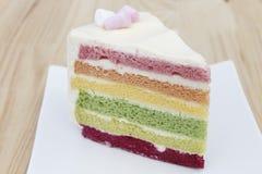 Tęcza tort Zdjęcie Stock