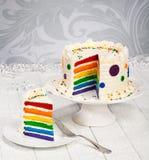 Tęcza Urodzinowy tort Zdjęcia Royalty Free